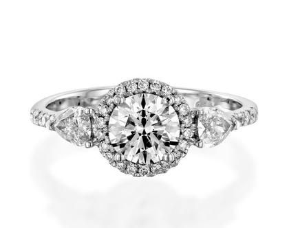 טבעת יהלומים יוקרתית EDEN, טבעת יהלומים לאישה, טבעת יהלומים, טבעת הילה, טבעת יהלומים לאישה, טבעת מתנה לאישה, טבעת זהב ויהלומים, טבעת יוקרתית