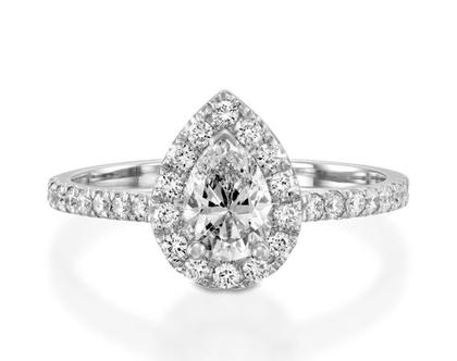 טבעת יהלומים GIANNA, טבעת יהלומים לאישה, טבעת יהלום טיפה, טבעת מיוחדת, טבעת יהלומים לאישה, טבעת מתנה לאישה, טבעת זהב ויהלומים, טבעת יוקרתית