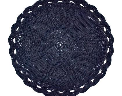 שטיח טריקו סרוג שחור- 1.20