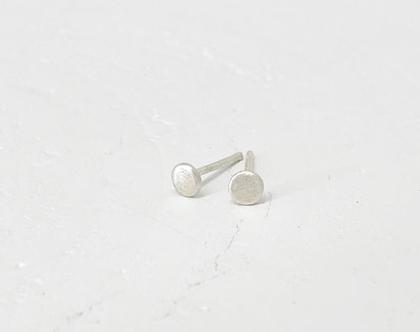 עגילי כסף עיגול צמוד   כסף 925   עגילים בעבודת יד   עגילי בסיס קטנים   עגילים עגולים