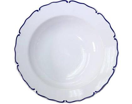 סט צלחות מרק עיטור כחול דגם בצלטו - מארז ארבע