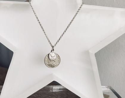 שרשרת מטבעות| שרשרת מטבע| שרשרת ארוכה| שרשרת כסף 925| שרשרת גאומטרית| שרשרת עדינה| שרשרת עיגולים