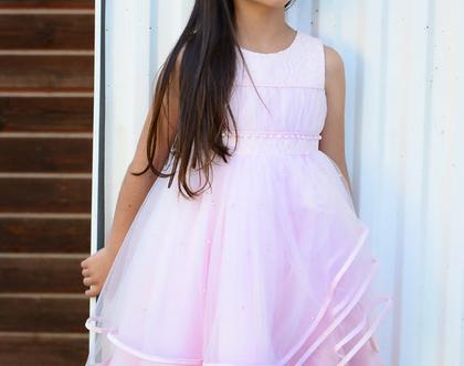 שמלת שושבינה ורודה