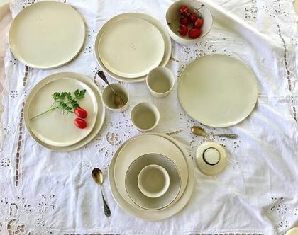 סט של 4 כוסות תה | ספלי אספרסו בצבע שמנת