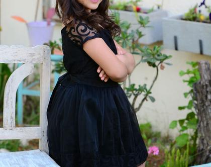 בובל'ה בשחור שמלה לערב