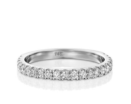 טבעת יהלומים שורה 0.44, טבעת יהלומים, טבעת איטרנטי, טבעת שורה, טבעת יהלומים לאישה, טבעת מתנה לאישה, טבעת זהב ויהלומים, טבעת זהב לבן, טבעת