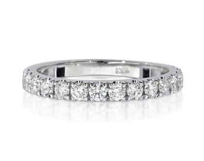 טבעת יהלומים שורה 0.60ct, טבעת יהלומים, טבעת איטרנטי, טבעת שורה, טבעת יהלומים לאישה, טבעת מתנה לאישה, טבעת זהב ויהלומים, טבעת זהב לבן, טבעת