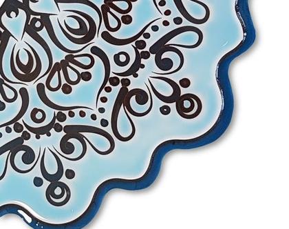 מנדלה כחולה מעץ
