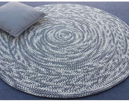 שטיח טריקו   שטיח סרוג   שטיח עבודת יד   שטיח עגול   שטיח אפור לבן   שטיחים סרוגים