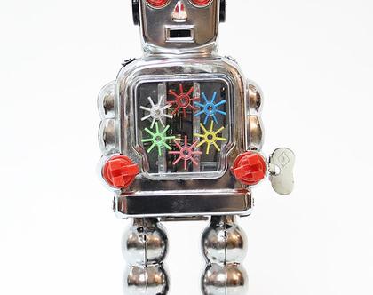 רובוט פח רטרו גדול