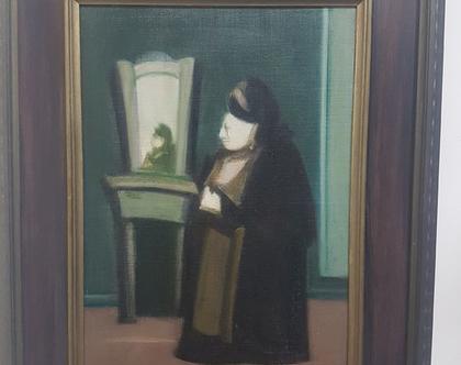 ציור שמן מקורי אברהם גולדברג