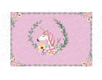 שטיח לילדה | שטיח ויניל מעוצב-חד קרן | שטיח חד קרן | שטיח לחדר בנות