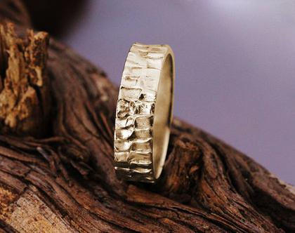 טבעת נישואין מעוצבת לגבר, טבעת נישואין 14K, טבעת זהב מעוצבת, טבעת נישואין קלאסית, טבעת לחתן, טבעת נישואין ייחודית, טבעת זהב צהוב,