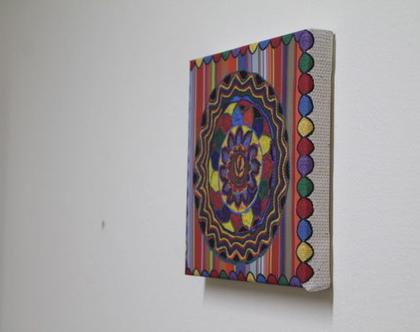 תמונת קנבס אומנות אתיופית, אומנות אתיופית, תמונת קנבס לתלייה, קנבס מודפס צבעוני, מתנה לבית, מתנה עם ערך חברתי
