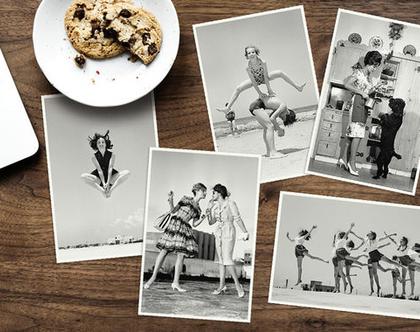 סט גלויות העצמה נשית- 5 גלויות מצילומים בשחור לבן