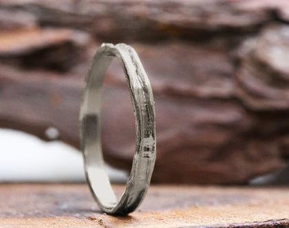 טבעת נישואין לגברים זהב לבן, טבעת נישואין גולמית, טבעת נישואין לחתן, טבעת דקה לגבר, טבעות גברים, טבעת נישואין חתן וכלה