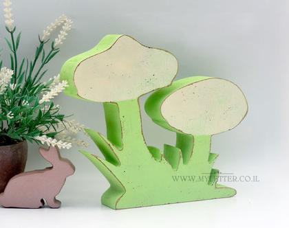 דקורציה פטריות מעץ   עיצוב חדרי ילדים   פטריות מעוצבות מעץ   עיצוב חדרי ילדים