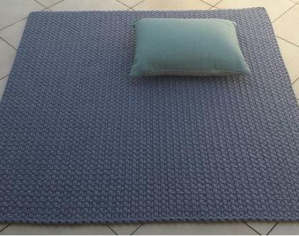 שטיח טריקו | שטיח סרוג | שטיח עבודת יד | שטיח מרובע | שטיח אפור | שטיחים סרוגים