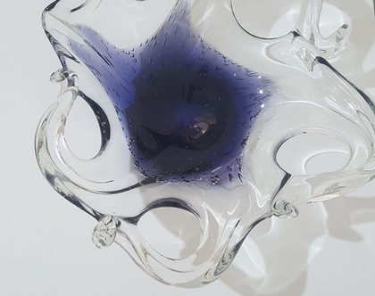 קערת נוי וינטג זכוכית מורנו