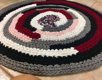 שטיח סרוג בעבודת יד בדוגמת שבלול