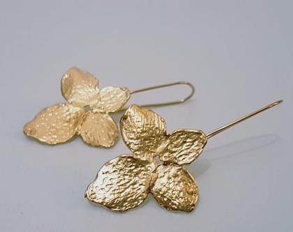 עגילי פרח זהב, עגילי פרחים, עגיל סחלב, עגילים מיוחדים, עגילים לכלה, עגיל לכלה, עגילים גדולים, תכשיטים לחתונה, עגילים לארוע, עגילי זהב