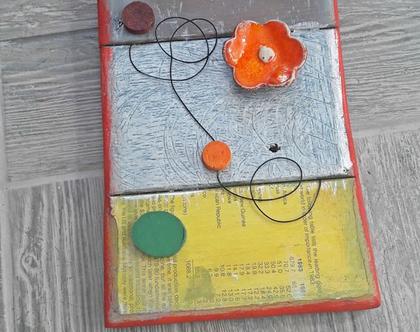 תמונה צבעונית | עיצוב בעץ | אמנות מקורית | פסיפס עץ |