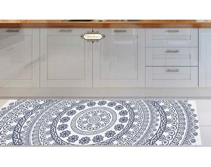שטיח פי.וי.סי מעוצב - דגם מנדלה 1008 | שטיח PVC לעיצוב הבית