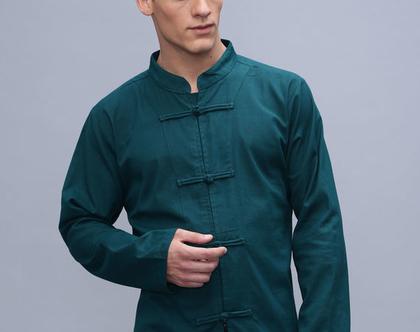 חולצת גברים בסגנון סיני - טיל