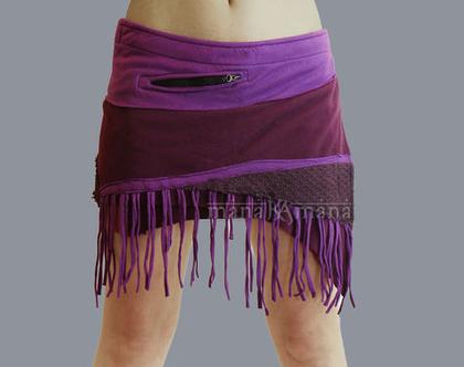 חצאית מיני סגול
