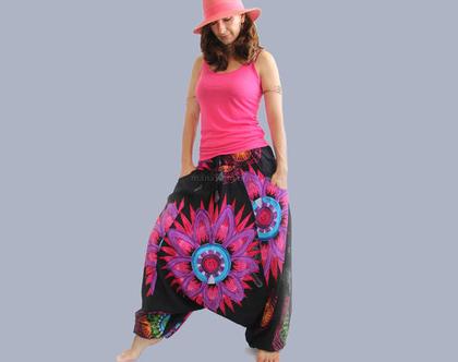 מכנסי שרוואל קיץ - אפגני שחור
