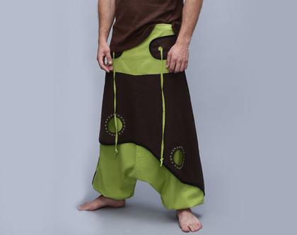 מכנסי שרוואל - אפגני תפוח ירוק