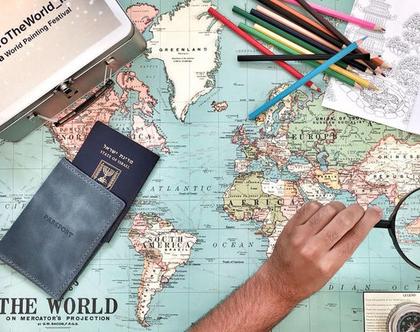 כיסוי לדרכון מעור ● מתנה לגבר ● מתנות לטיילים ● מתנה קטנה לטיול ● נרתיק לפספורט ● מתנות למטייל ● קייס לדרכון לפספורט ● מגן דרכון