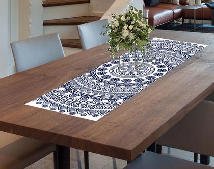 ראנר PVC מעוצב - דגם MANDALA BL-1 - ראנר לעיצוב השולחן