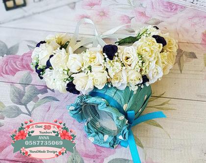 קשת פרחי משי | זר לראש| קשת פרחים | קשת פרחי משי| זר פרחים ליום הולדת| זר מלאכותי| זר לבת מצווה| קשת לשיער| זר לשבועות|