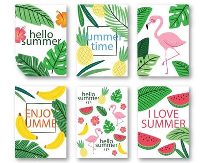 סט 6 גלויות קיץ