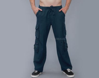 """מכנס """"תיר"""" דגמ""""ח עם 14 כיסים - כותנה"""