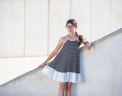 שמלת כוכב ים , שמלת A פסים שחור לבן