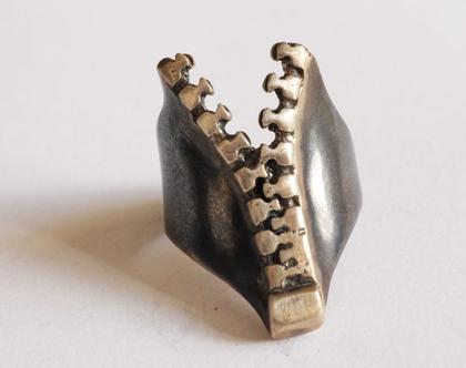 טבעת כסף רחבה, טבעת רוכסן, גם לגבר