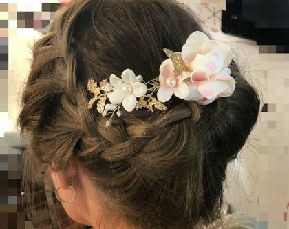 תכשיטי שיער לכלות, אביזרי שיער לכלה, אקססוריז לשיער, פרחים לשיער