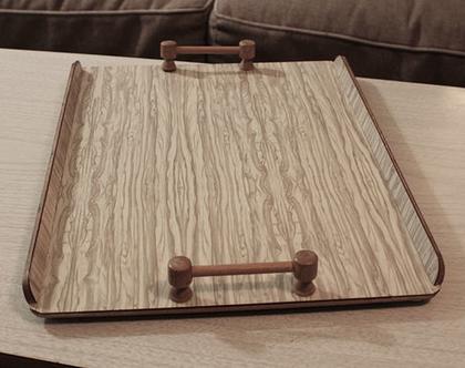 מגש עץ וינטאג׳ משנות החמישים