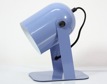 מנורת לילה רטרו בצבע תכלת, מנורת שולחן תכלת