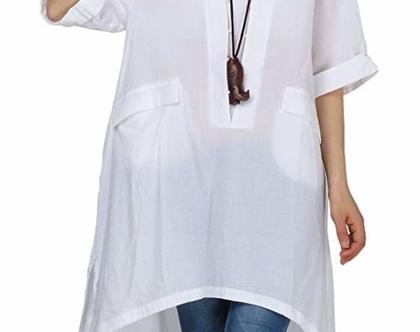 שמלת טוניקה בגוון לבן