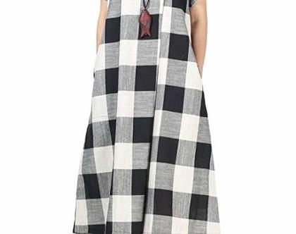 שמלת קיץ משבצות