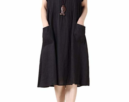 שמלת כיסים שחורה