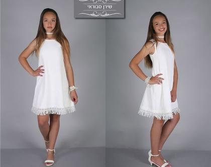 שמלת ליהי לבת מצווה של המעצבת שירן סבוראי