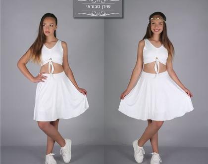שמלת קשירה קדמית לבת מצווה של המעצבת שירן סבוראי