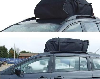 תיק גג 425 ליטר לרכב כולל 4 רצועות שחרור מהיר להתקנה קלה ומהירה על הרכב