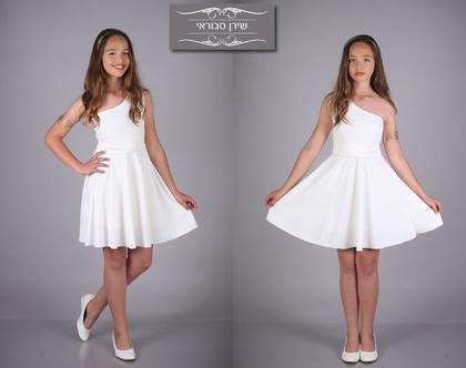 שמלת כתף לבת מצווה של המעצבת שירן סבווראי