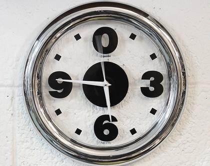 שעון קיר איטלקי עשוי פרספקס, שעון גוזיני