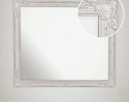 מראה מלבנית לקיר מעוצבת בסגנון בלגי ייחודי גדלים לבחירה